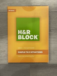 Brand New Sealed H&R Block 2016 Basic Tax Software Federal (Windows and Mac)