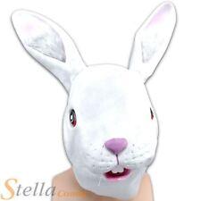 Unisex Adulto Conejo Sobre La Cabeza Máscara De Goma Pascua Animales Disfraces