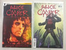 Alice Cooper #1 #2 Set 2014 Dynamite Comics 1:10 Photo & Syaf Variant Covers