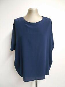 Second Female 100% silk top loose style short sleeve hip length M UK12