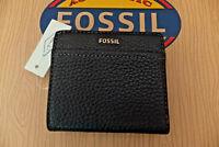 Fossil ladies Black Leather Tessa Bi-Fold Coin Purse BNWT SWL1688001