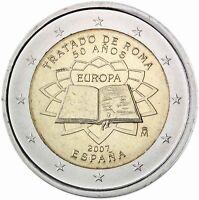 Spanien 2 Euro 2007 Römische Verträge Gedenkmünze Prägefrisch