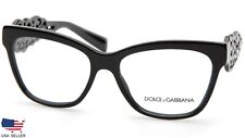 D&G Dolce & Gabbana DG3236 501 BLACK EYEGLASSES 3236 54-16-140mm (DISPLAY MODEL)