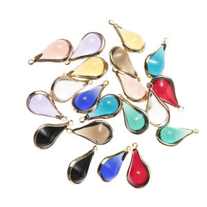 Simple 10pcs/lot Water Drop Crystal Charms For Handmade DIY Necklace Bracelet