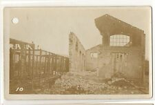 RPPC WWI World War I Ruins in France, Hit by Shell! Vintage Real Photo Postcard