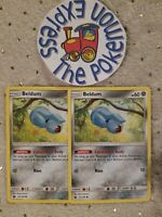 Pokémon TCG 2x Beldum #92/168 Celestial Storm Mint English Steel Type Common