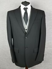 Next Wool Mens Blazer Jacket Size 42L Long Black