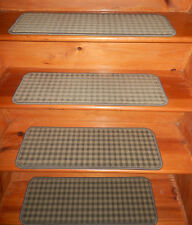 13  Step 9'' x 27'' + 1 Landing  22'' x 28'' Wool Woven Carpet Stair Treads .