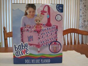 """BABY ALIVE DOLL DELUXE PLAYARD--FOR AN 18"""" DOLL (NOT INCLUDED)--NEW IN BOX"""
