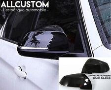 ENJOLIVEURS NOIR GLOSS COUVRE COQUES COQUILLE RETROVISEURS pour BMW X1 E84 2012-