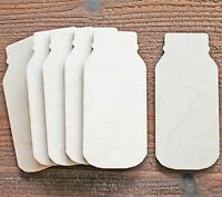 Mason Jar Unfinished Wood Cutout Crafts Door Hanger Ready to Paint Stain