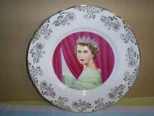 1953 Queen Elizabeth ll Coronation Collector Plate -W Adams & Sons England 22 KT