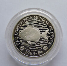 More details for 1984 cape verde silver proof piedfort 50 escudos fao world fisheries conference