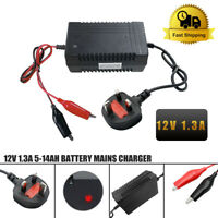 12V 1.3A Mini SLA Battery Charger For 4-14Ah Sealed Lead Acid (SLA) Batteries