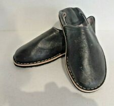 MOROCCAN LEATHER BABOUCHE Slippers  BLACK