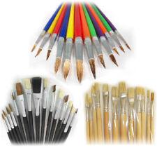 Artist Paintbrush Set 39pc Drawing Painting Multi Colour Paint Flat Tip Brushes
