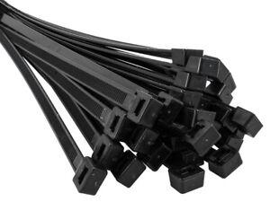 Sortiment Kabelbinder Set schwarz 100-550mm Länge 300-900teilig +200Stck. gratis