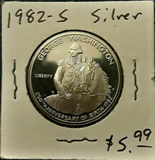 George Washington Commemorative Coin 1982 S Silver UNC Proof Half Dollar 50 Cent