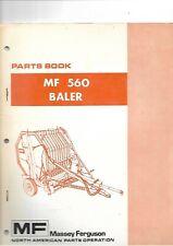 Massey Ferguson MF 560 Baler Parts Book  .....................  North American