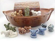 New ListingVintage Wade Whimsie Large Noah'S Ark W/ Complete Series Set Figurines