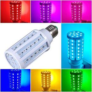 E27 5W-100W 5730 Energy Saving LED Corn Bulb Lighting Red Green Blue Golden Pink