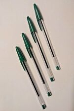 4 X GREEN BIC PENS | STATIONERY & SCHOOL EQUIPMENT