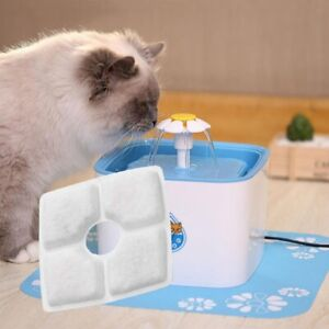 Dog Cat Automatic Water Fountain Dog Cat Water Dispenser Square Filters Pad