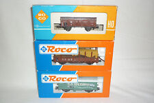 Roco - Gauge H0 - 3 Freight Car/Wagon - Look at the Photo Box