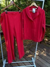 NWT L.L. Bean Women 3X Cozy Fleece 2-Piece Pajama Set Lounge Pant Shirt Top $60