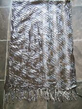 BNWNT Women's Sparkly Black, Silver & Purple Scarf