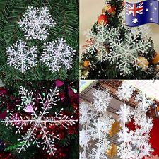 30 x White Snowflakes Wedding Decortions Frozen Party Ornaments Decor Fake Snow