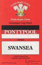 Apr 83 PONTYPOOL v SWANSEA Schweppes Welsh Cup Final