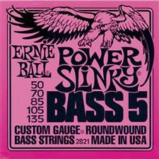 Ernie Ball 2821 Power Slinky 5-String Bass Nickel Wound .050-.135