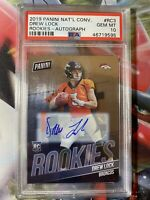 DREW LOCK 2019 Panini The National Rookies RC AUTO PSA 10 GEM MINT INVEST