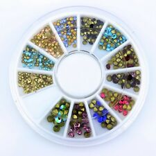 Colorful Nail Art Crystals Sharp Bottom Rhinestone Charms Cell Phone Decorations