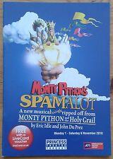 Monty Python's Spamalot programme Torquay Princess Theatre 2010 James Gaddas