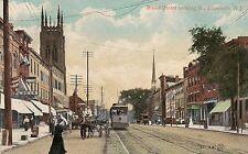 Broad Street Looking South in Elizabeth NJ Postcard
