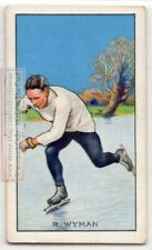 1933 R Wyman Skating Record Breaker Rickmansworth Aquadrome 1930s Ad Trade Card