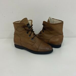 Russell & Bromley Fleece Lined Ankle Boots Light Brown Sz 40 EU / 7 UK Ladies