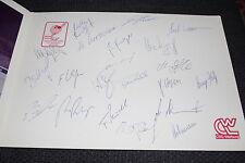 EISHOCKEY WM 1986 DEUTSCHLAND signed Autogramme in VIP Mappe MOSKAU 1986    RAR