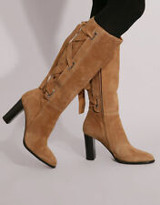 Women's 100% Leather Party Knee High Boots