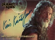Topps Planet of the Apes Movie Kris Kristofferson as Karubi Auto Card