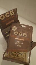 OCB SLIM VIRGIN UNBLEACHED ECO 6mm Tip Cigarette Filter Tips Resealable Bags UK