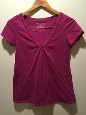 Maternity Shirt XS Old Navy Violet Stretch Cotton