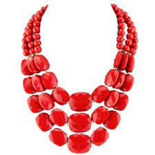 Women Lady Jewelry Chunky Statement Bib Pendant Chain Choker Necklace&Earring