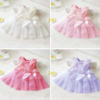 1pc Baby Girl Kids Pretty Rose Top Lace Dress Skirt Outfit Party Clothing 0-12M