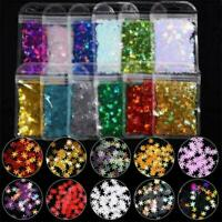 3D Ultrathin Sequins Nail Glitter Flakes Paillettes Snowflake Christmas Decor US