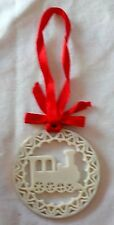 Lenox Locomotive Pierced Christmas Ornament