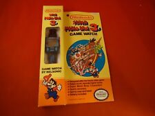 Super Mario Bros. 3 Nintendo NES Nelsonic Game Watch 1990 Black Version w/ Box!