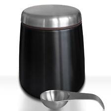 Edelstahldose Vorratsdose Kaffeedose mit Magnetlöffel für Kaffeebohnen uvm 500g